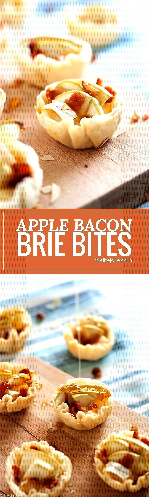 Apple Bacon Brie Bites ,  Apple Bacon Brie Bites ,