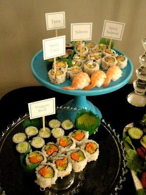 sushi party!!! Have to do this for a girls night! SKYLTAR