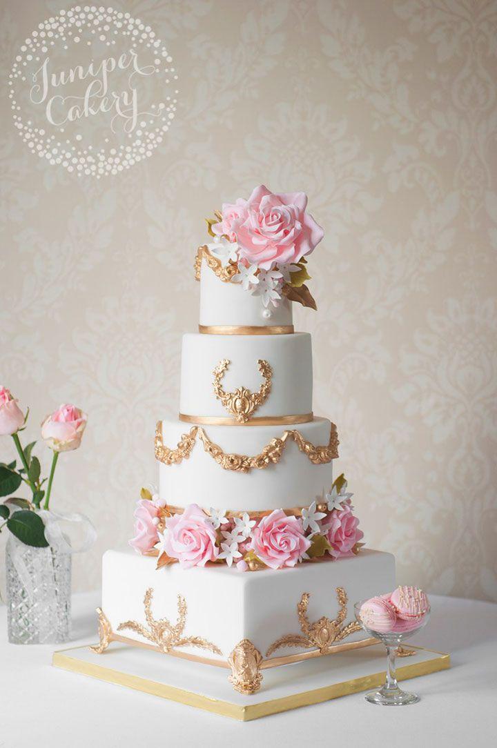 Wedding Cake Trend Floral Filled Separators