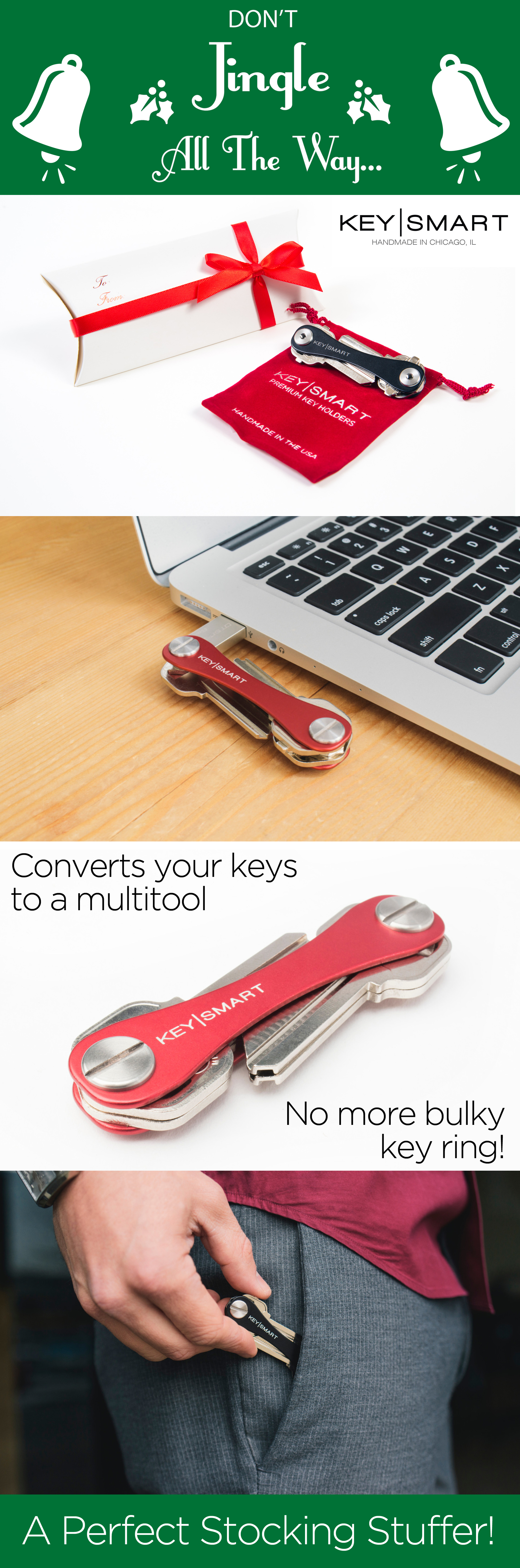 Don T Jingle While You Walk This Holiday Season Get The Keysmart The Keysmart Holds Your