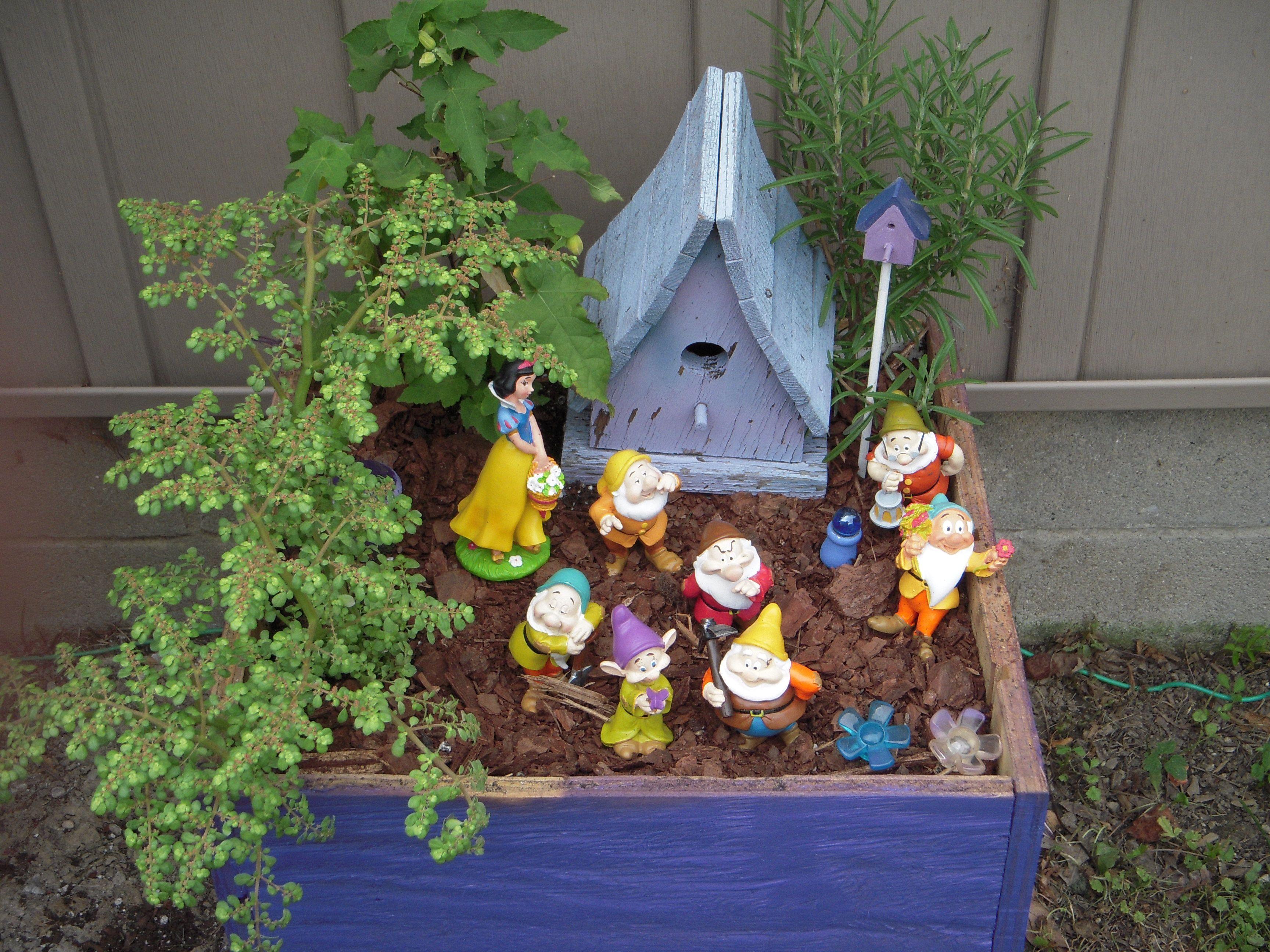 New Garden Ideas 2014 2014 snow white & 7 dwarfs fairy garden | a. miniature fairy