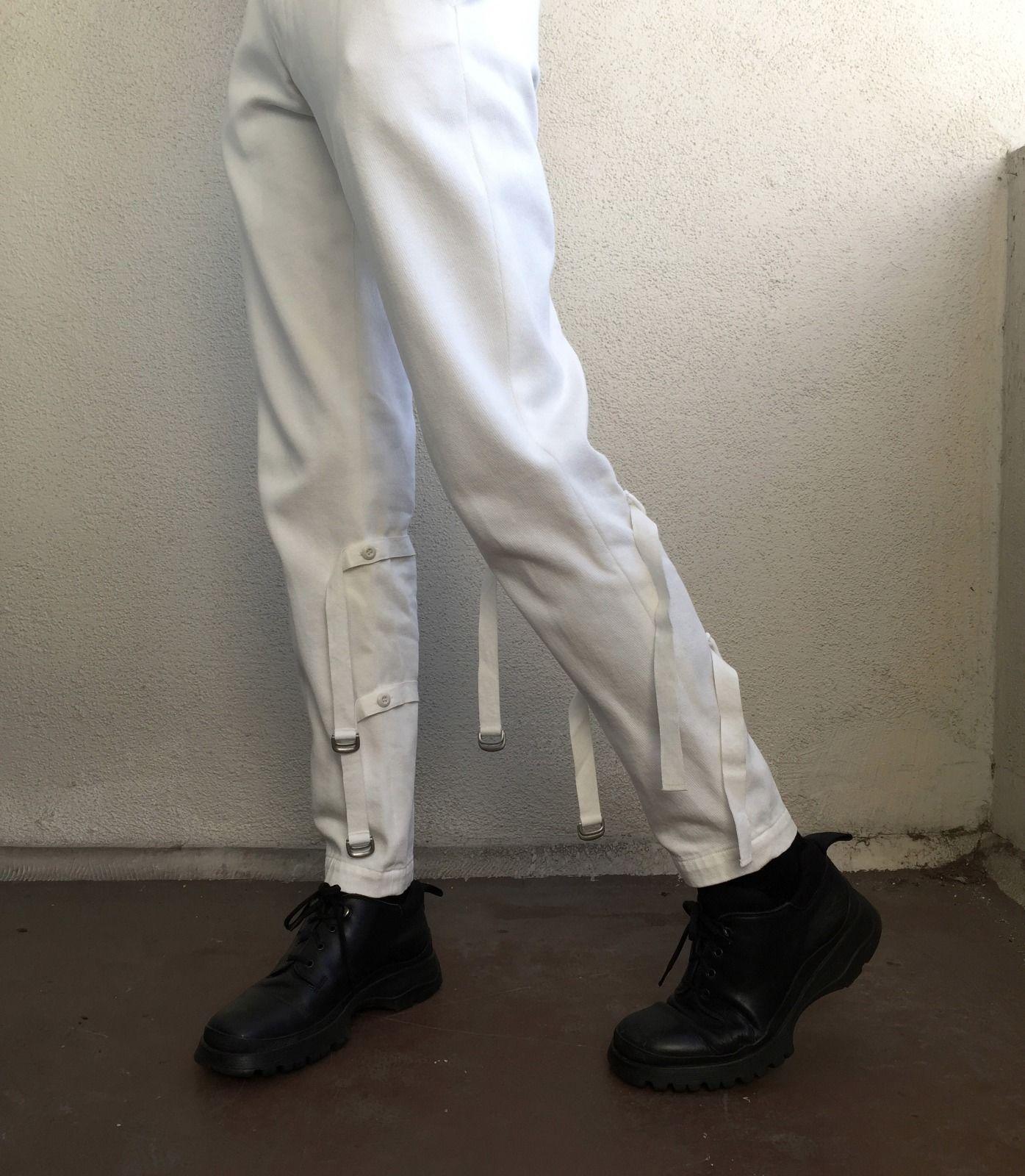 Bondage pants white