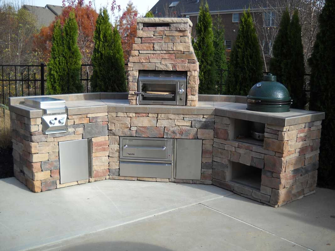 Picture Of Easy Custom Big Green Egg Island With Twin Eagles Salamangrill Outdoor Kitchen