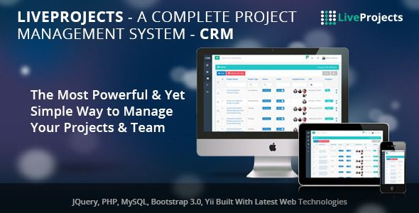 LiveProjects - Complete Project Management CRM  Welcome