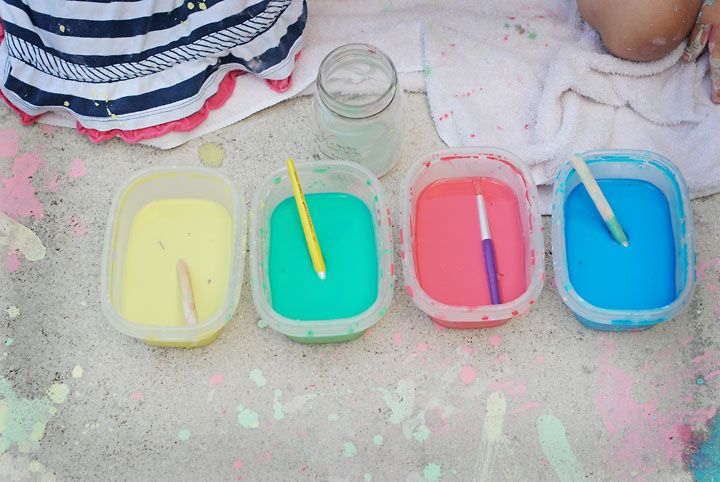 Sweetaprils: Sidewalk Paint {Tutorial}...it's Cheap, Easy, and Safe.