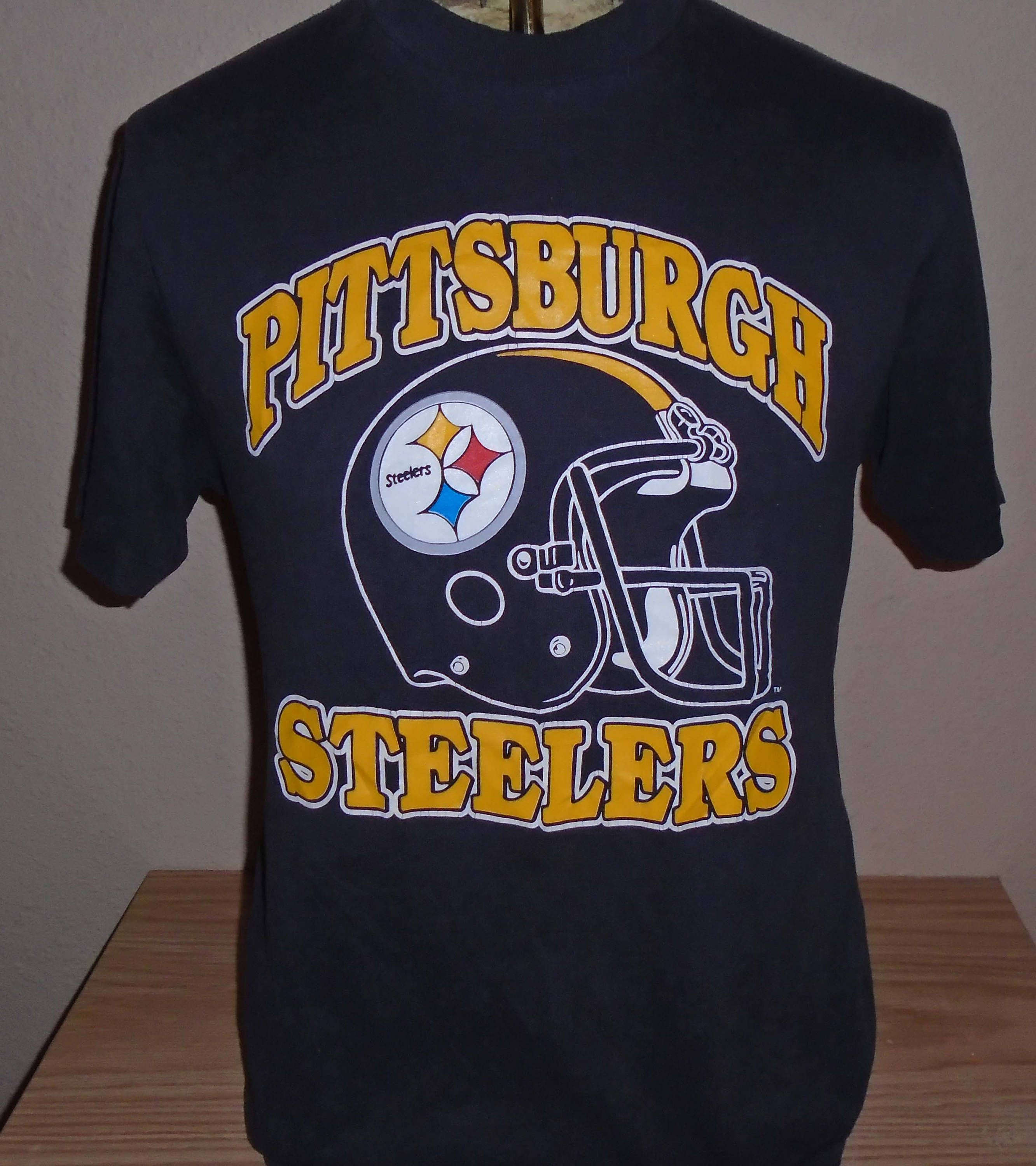 74ad7cadc3d vintage 1980s Pittsburgh Steelers football t shirt 50 50 Large by  vintagerhino247 on Etsy
