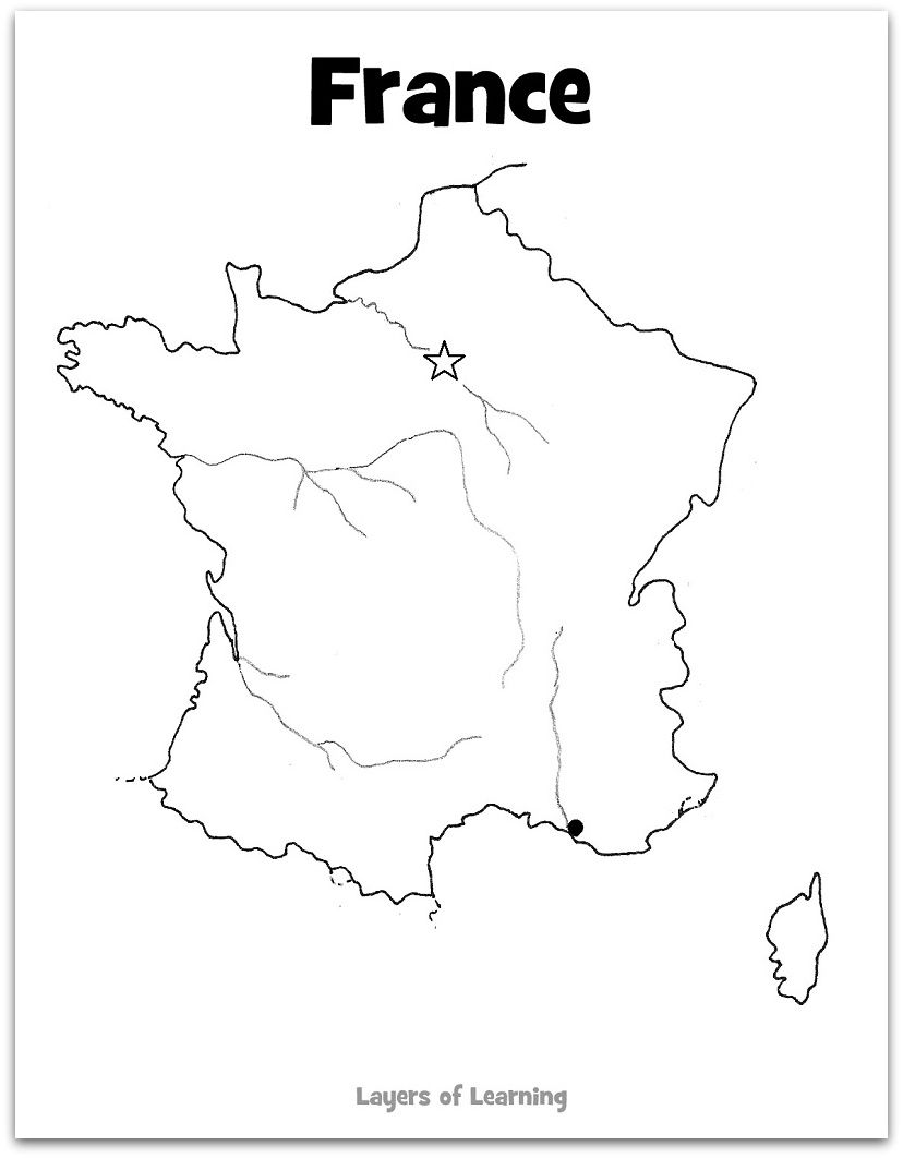 France Activities Learn French France For Kids Maps For Kids