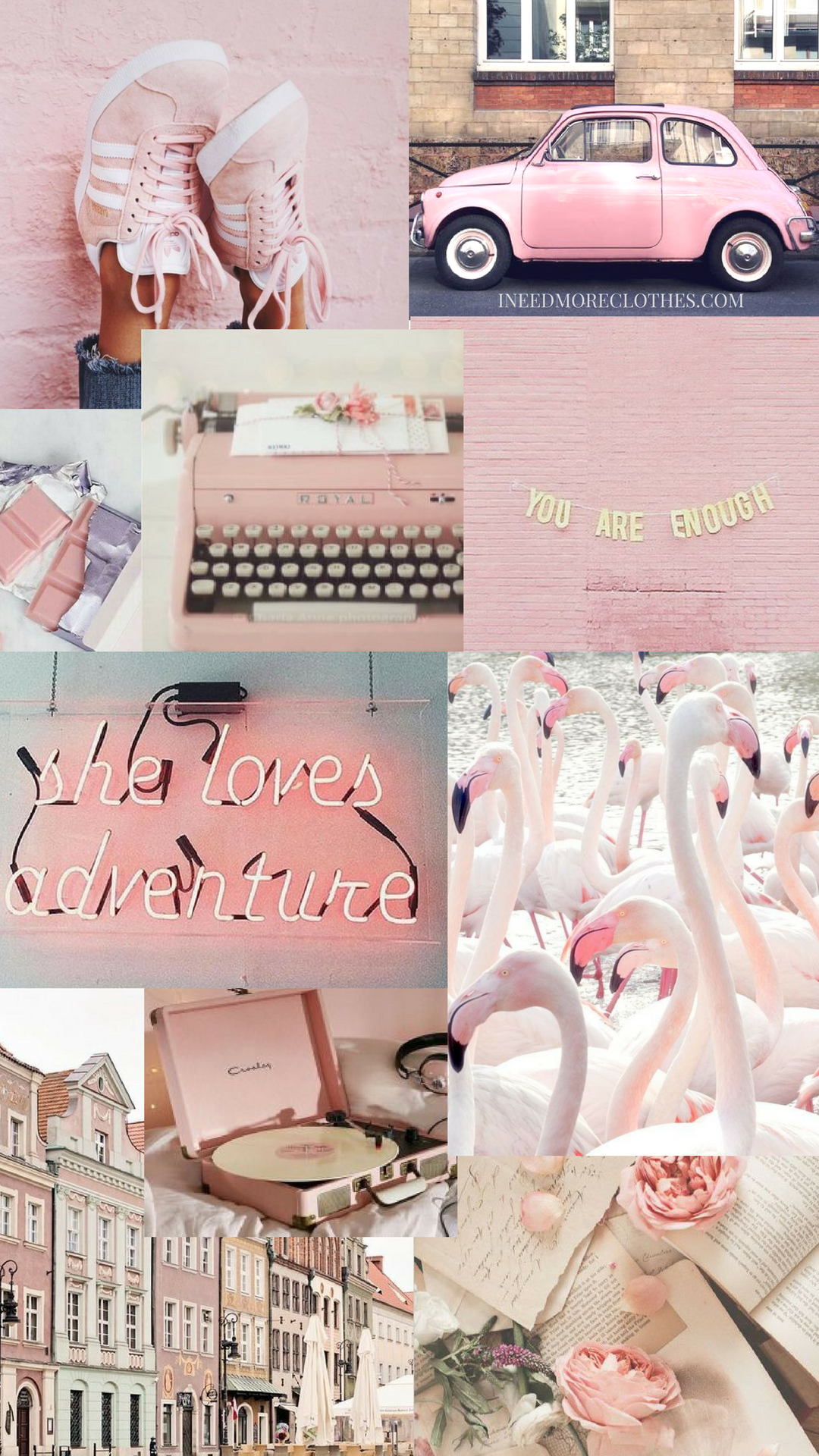 Pink Mood Board Positivity Girl Power Phone Wallpaper Pink Pink Wallpaper Iphone Aesthetic Iphone Wallpaper