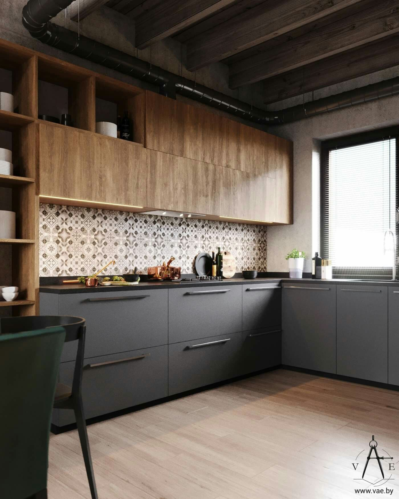 Muebles De Cocina De Madera Modernos | Materiales Para Cocinas I ...