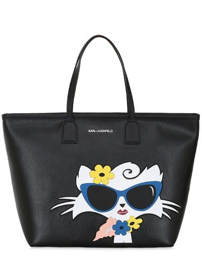 5f7f02d5bc KARL LAGERFELD CHOUPETTE BEACH TOTE BAG