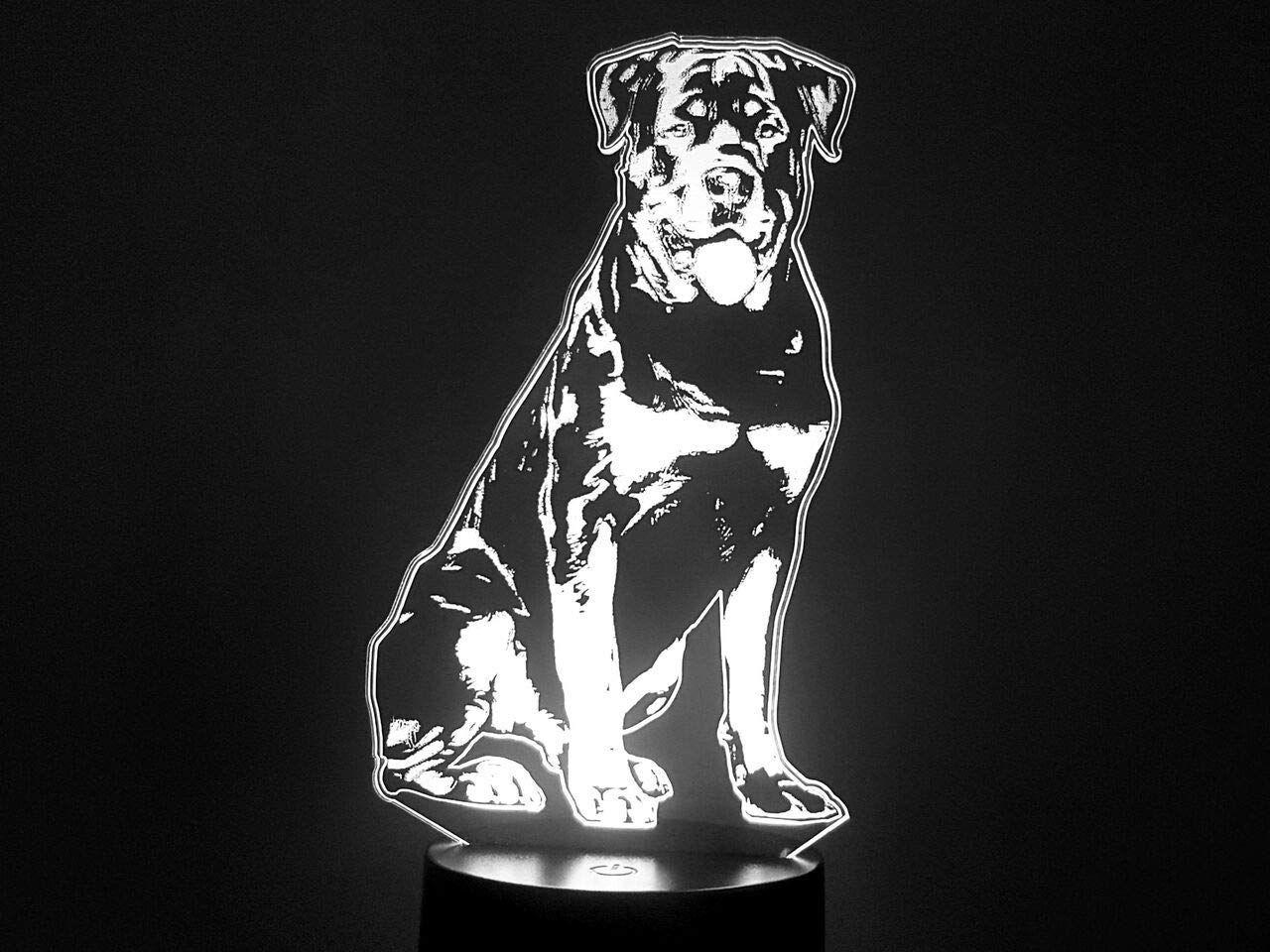 Rottweiler 3d Lampe Led Rottweiler Lampe Led Interieur