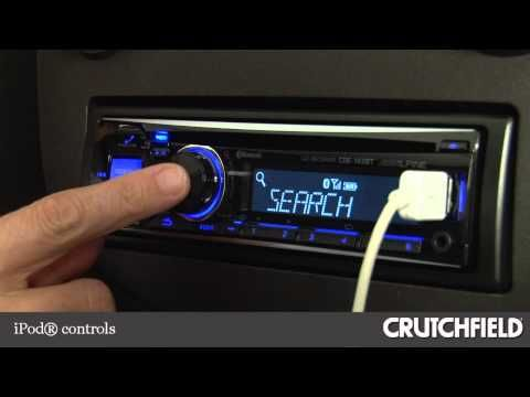 Alpine CDE-143BT Car CD Receiver Display and Controls Demo