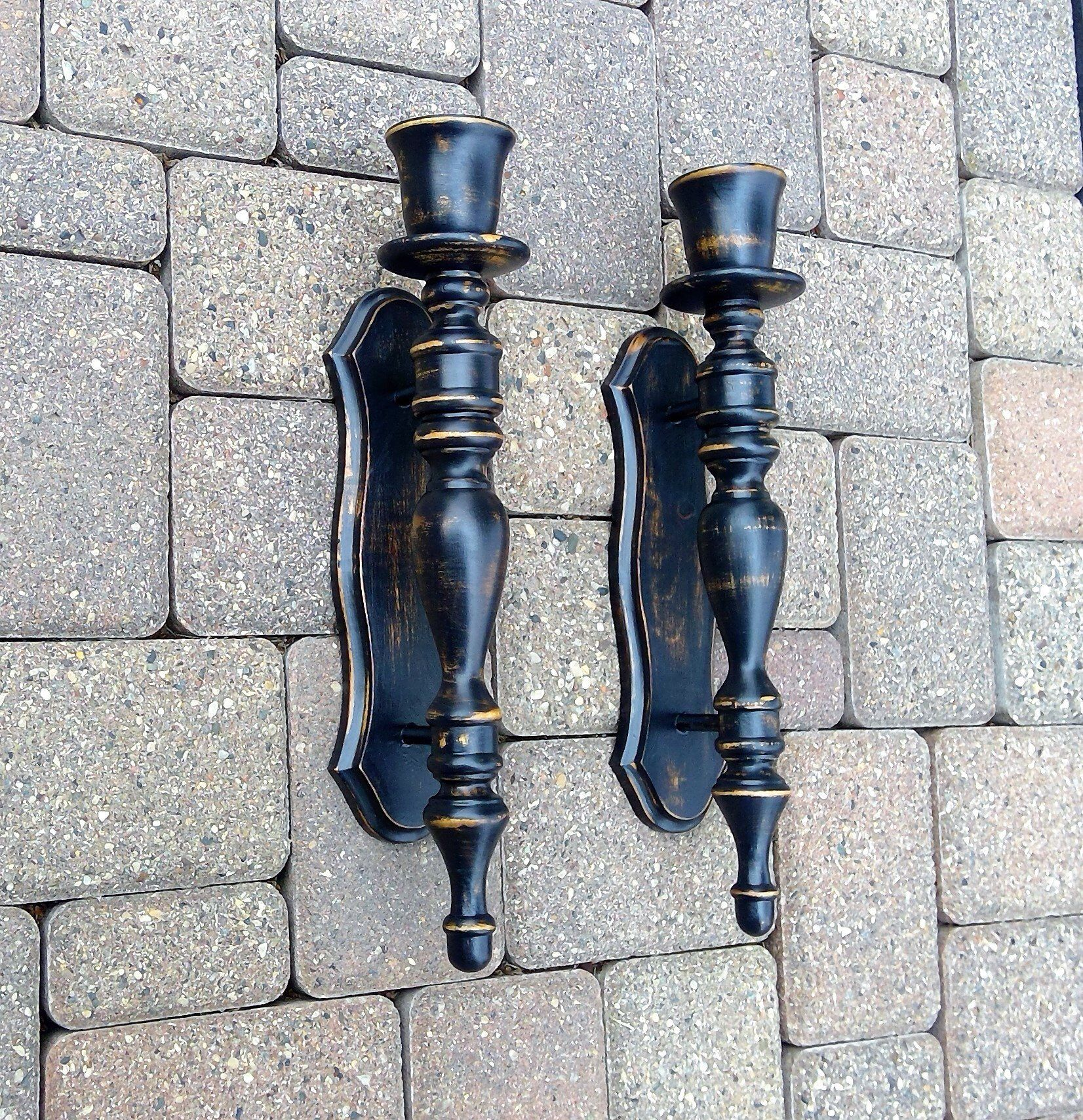 rustic farmhouse candle wall sconces