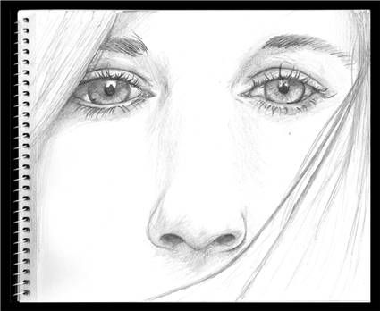 how to draw realistic female nose with pencil