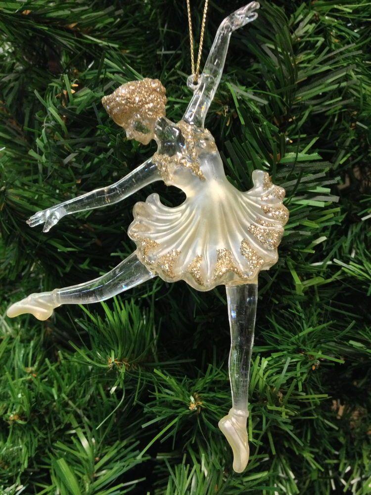 Kurt s. adler acrylic pearl ballerina on pointe ballet dancer ...