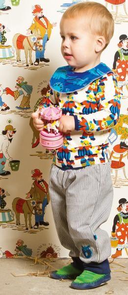 Smafolk l/s tee - Turquoise Circus Retro Baby Clothes - Baby Boy clothes - Danish Baby Clothes - Smafolk - Toddler clothing - Baby Clothing - Baby clothes Online