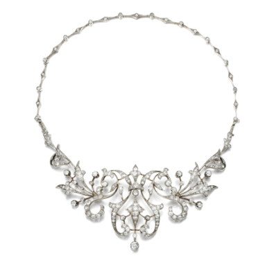 DIAMOND TIARA / NECKLACE, CIRCA 1890