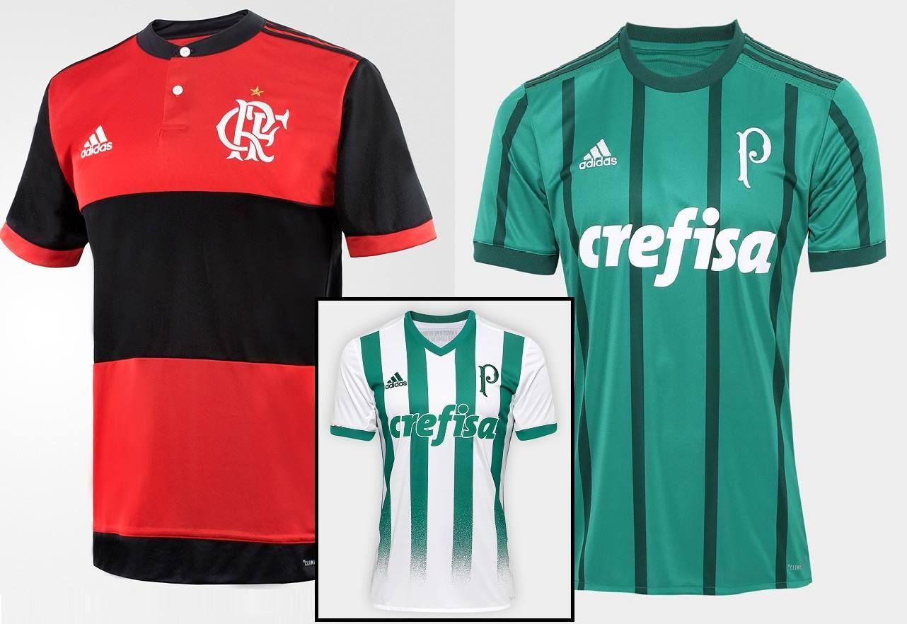 ▫Camisa Flamengo I 17 18 s nº – Torcedor Adidas Masculina – Preto e ... 95efcd83d5d59