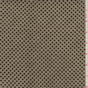 Metallicblack semi-sheer knit fabric with metallicgold flat sequins. Thisnylon fabric is lightweight.Compare to $12.00/yd
