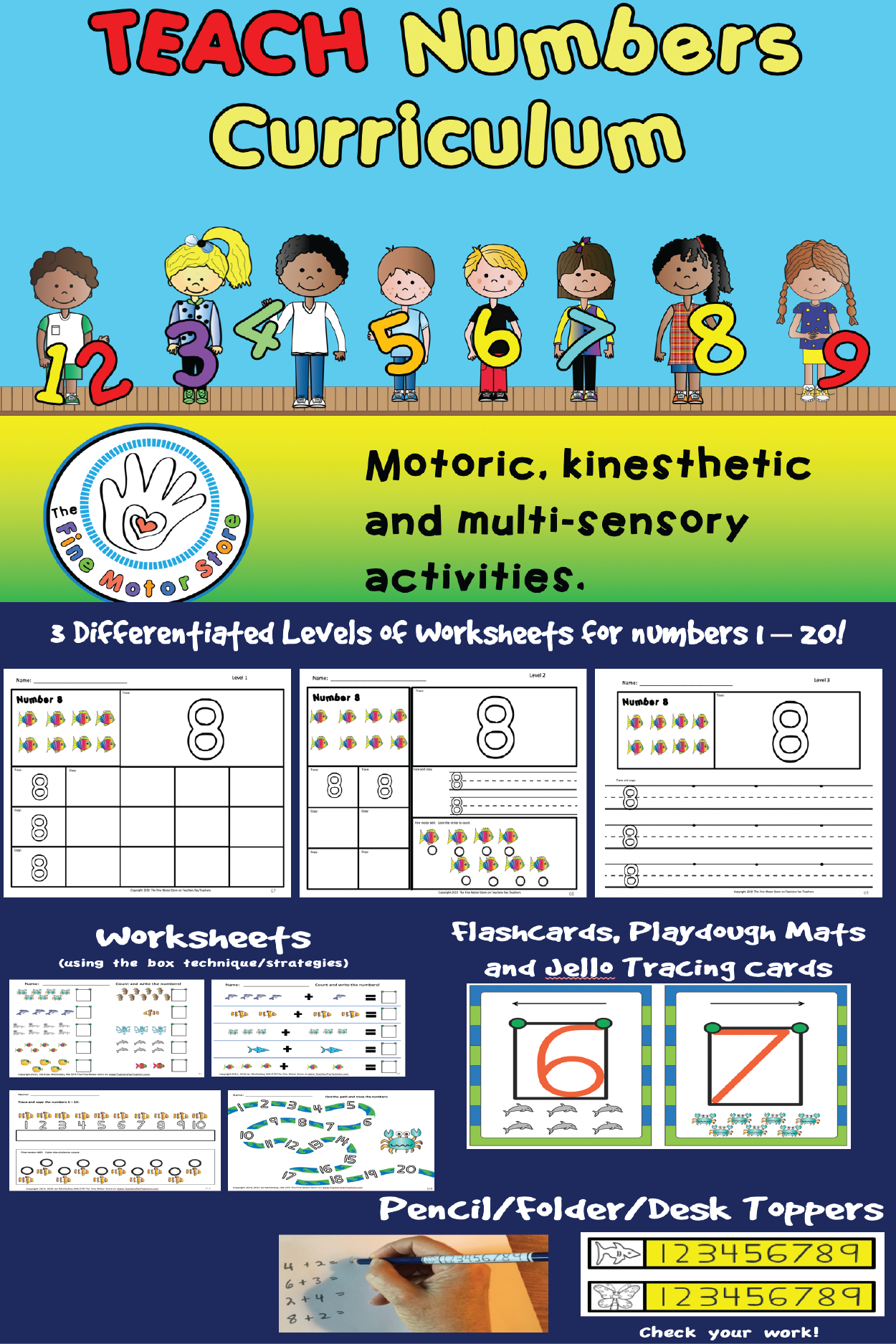 Write Numbers Curriculum With Images
