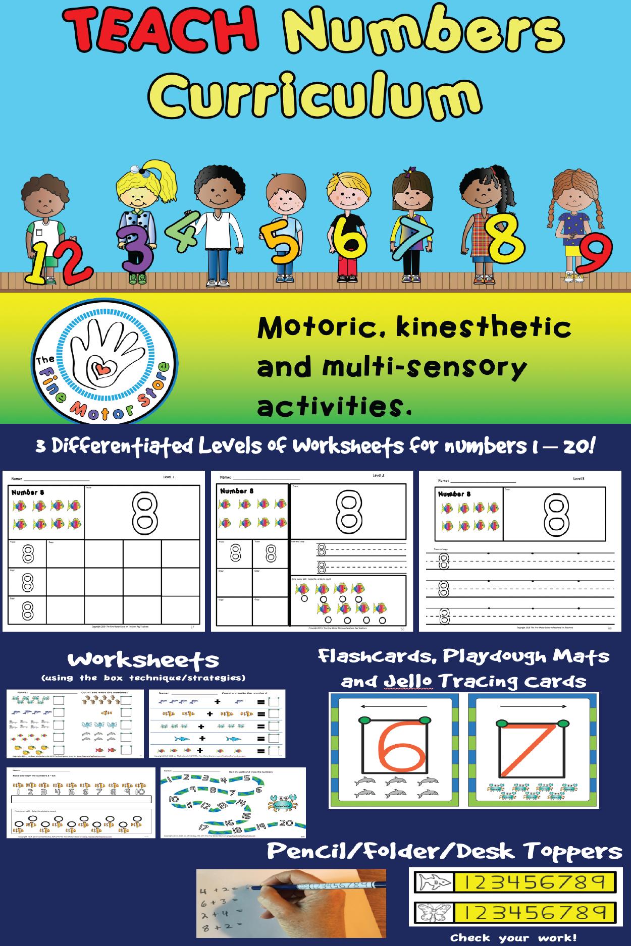 Write Numbers Curriculum