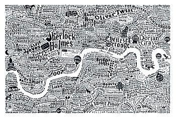 White Literary London Map