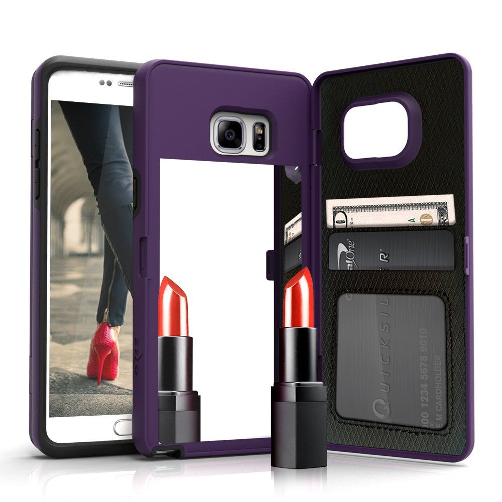 Vettore by Zizo for Samsung Galaxy S7 Edge case All-in-One Wallet Case w/ [Built-In Mirror] [Kickstand] -- Awesome products selected by Anna Churchill