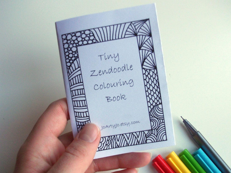 Printable Coloring Book Kids Activity Book Zentangle by JoArtyJo ...