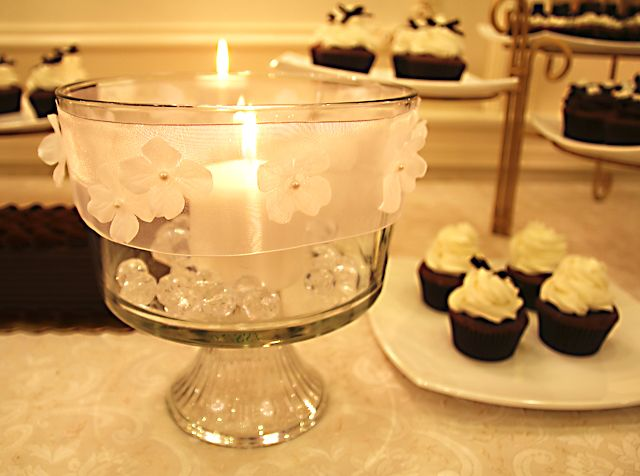 What To Put In A Glass Bowl For Decoration Trifle Bowl Candle Centerpiece  Craftycandles Vases Lights