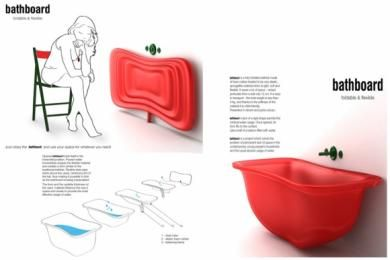 BathBoard Folding Bathtub