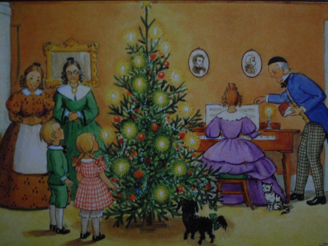 Elsa Beskow joulukuusi on koristeltu - Huuto.net