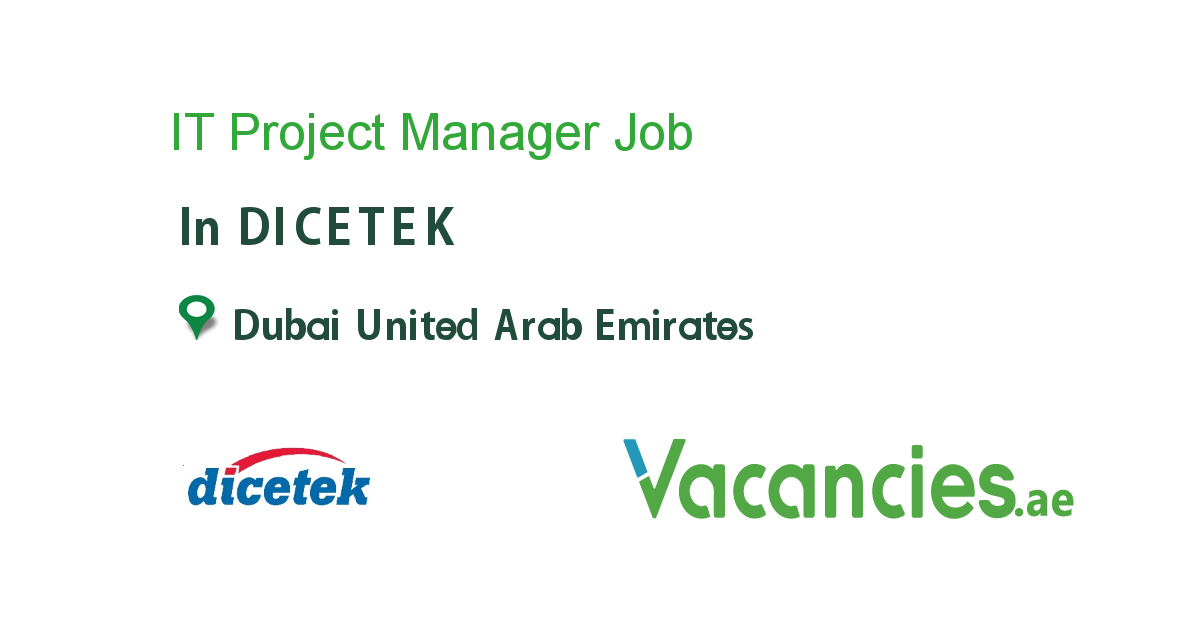It Project Manager Dubai Job Business Analyst