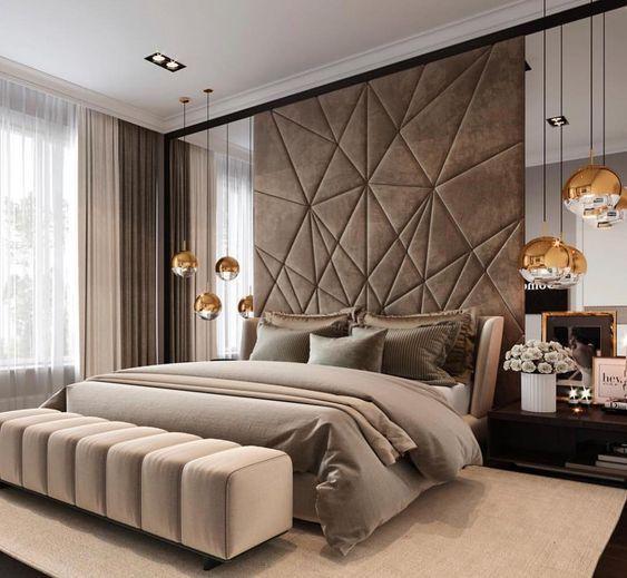 Lamparas Unicas Para Un Diseno Interior Unico Y Extraordinario Deja Que Tu Creatividad E Inspi Luxurious Bedrooms Modern Luxury Bedroom Luxury Bedroom Design