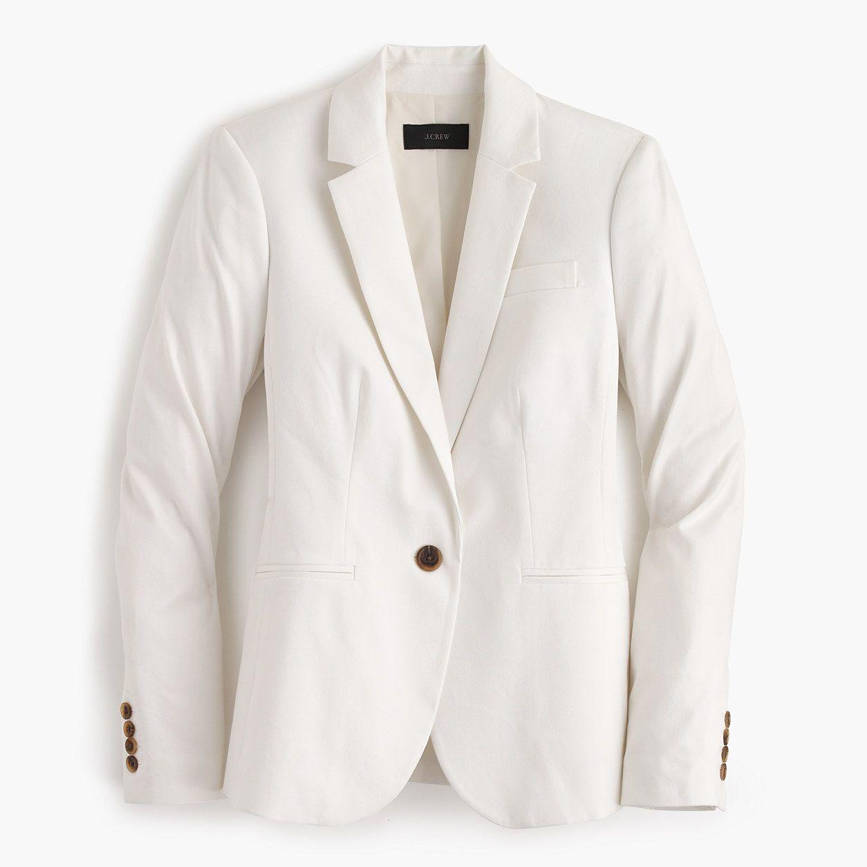 J.Crew Womens Petite Campbell Blazer In Bi-Stretch Cotton (Size 12 Petite)