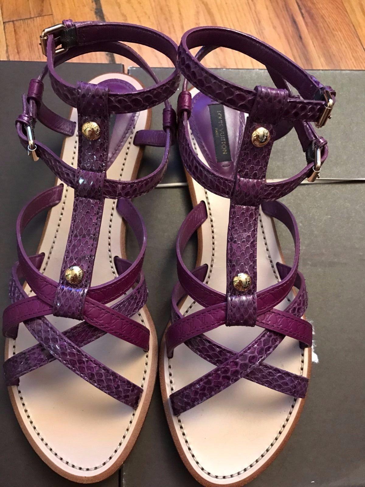 Authentic Louis Vuitton Ethnic Sandal. Color - Violet ...