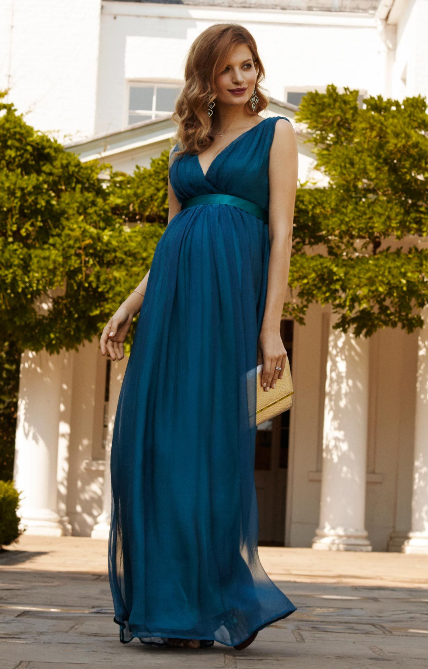 5799c8b76 Ava Maternity Gown Long Aegean Blue by Tiffany Rose