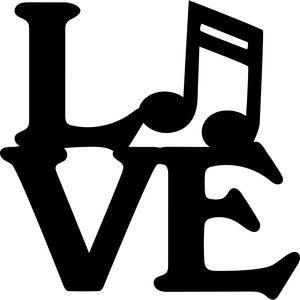 Silhouette Design Store: Music Love