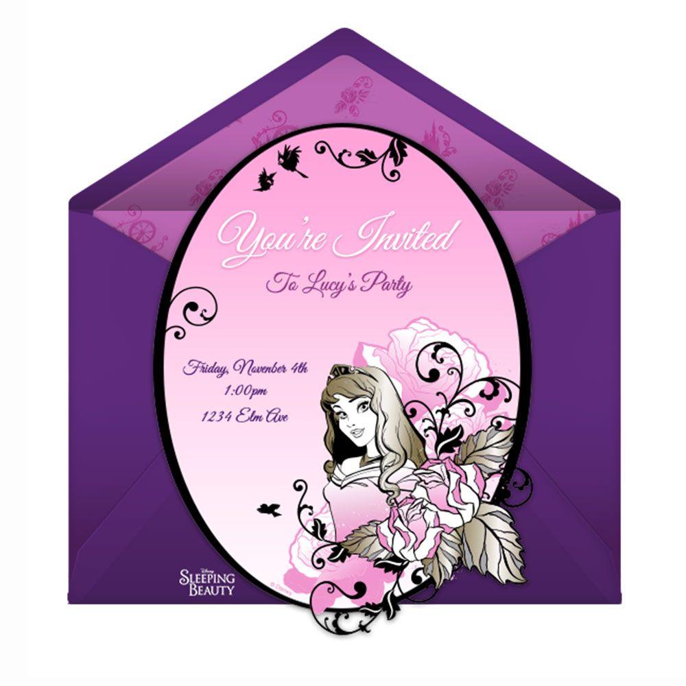 Sleeping Beauty Party Online Invitation | Sleeping beauty party ...