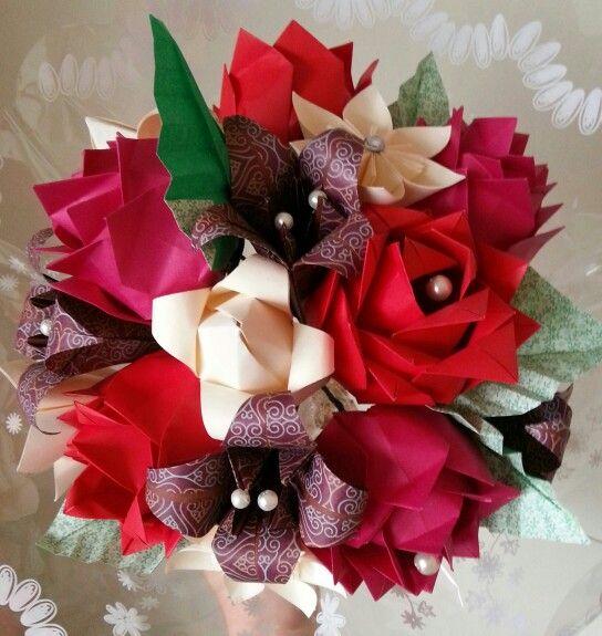 Paper Flowers first wedding anniversary bouquet. Wedding Bouquet ...