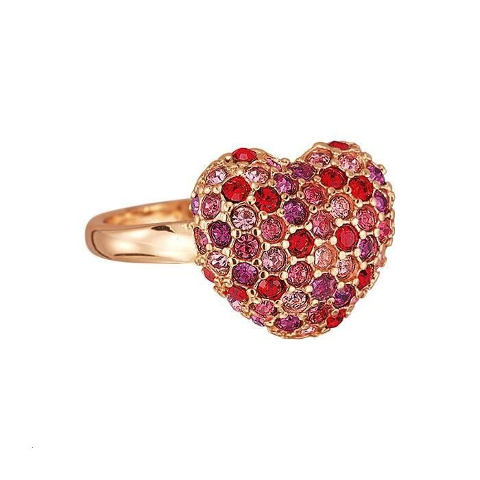Pavé Heart Ring We know in our heart of hearts that this multicolored pavé ring will take your breath away FEATURES  Band ring  Stone accents  Heartshaped p...
