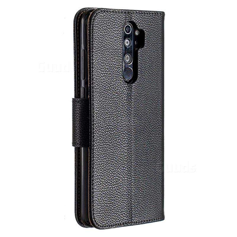 Classic Luxury Litchi Leather Phone Wallet Case For Mi Xiaomi Redmi Note 8 Pro Black Xiaomi Redmi Note 8 Pro Cases Guuds In 2020 Leather Phone Case Wallet Leather Phone Wallet Wallet Phone Case