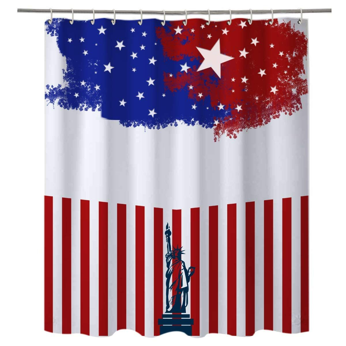 American Flag Shower Curtains Are Popular It Will Make Your
