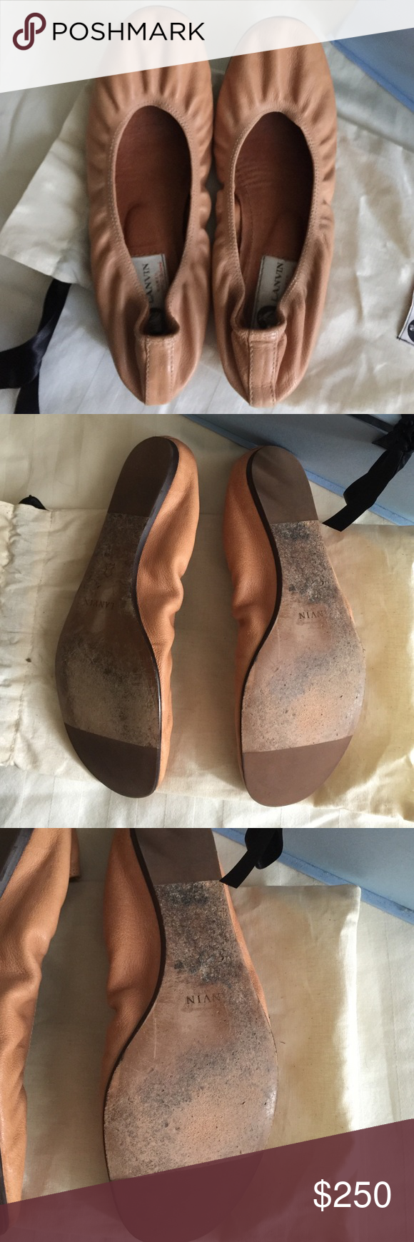 Lanvin Ballet Flats - nude/beige Lanvin ballet flats!  Like new condition!  Worn 3x Lanvin Shoes Flats & Loafers