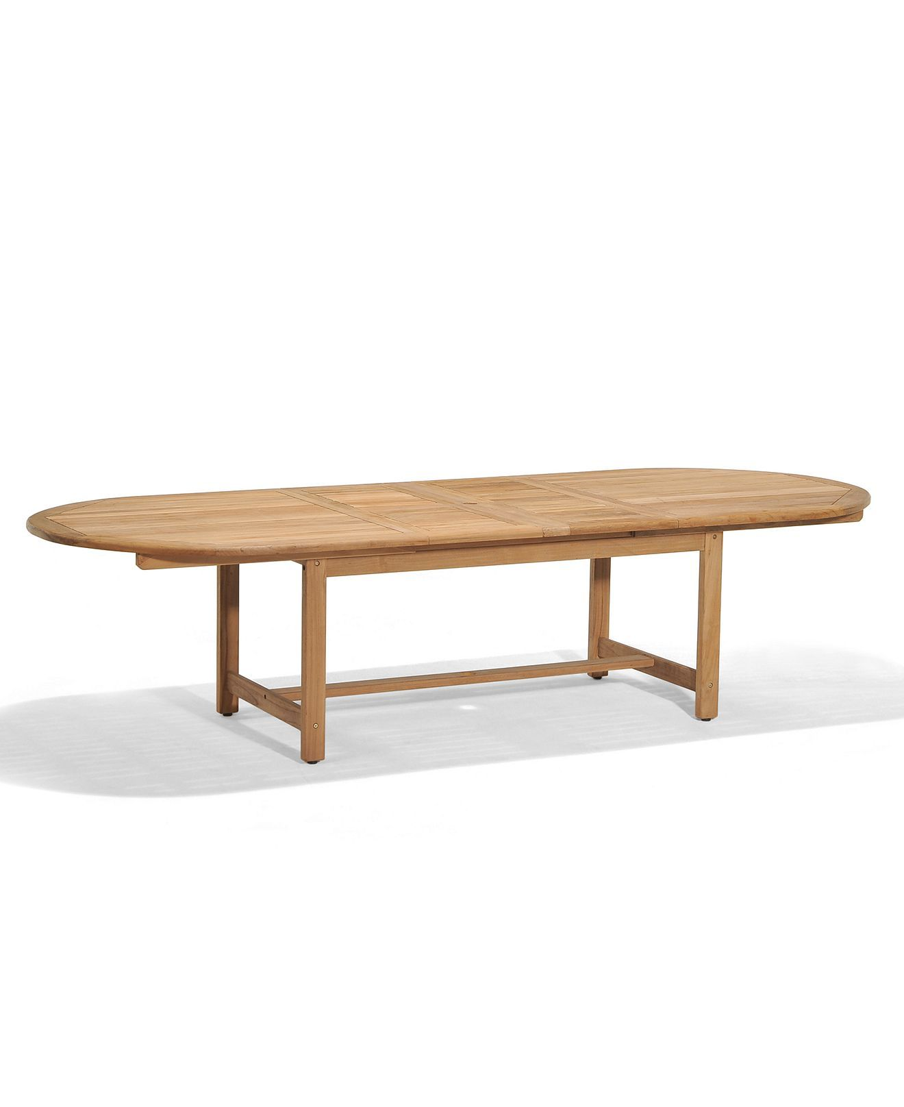 Bristol Teak 118 X 47 Outdoor Extension Dining Table Created For