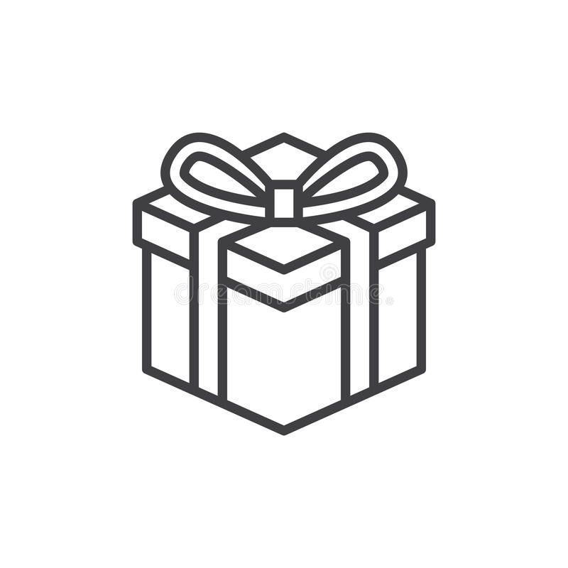 Gift Box Line Icon Outline Vector Sign Linear Style Pictogram Isolated On Whit Aff Sign Vector Linear Pictog Pictogram Logo Illustration Gift Logo