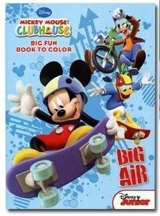 "Disney Mickey Mouse Clubhouse Coloring Book ""Big Air"" Featuring Mickey Mouse by Dalmation Press. $6.99. For ages 3 and up. Features favorites such as Mickey Mouse, Donald Duck, Goofy and more.. Coloring book titled ""Big Air"" (A Mickey Mouse sports theme). A Mickey Mouse Clubhouse Coloring Book for Kids. Each coloring book has 96 pages of coloring fun and activities for kids. It's time for some Big Air for Mickey Mouse in this 48x2-sided pages coloring book."