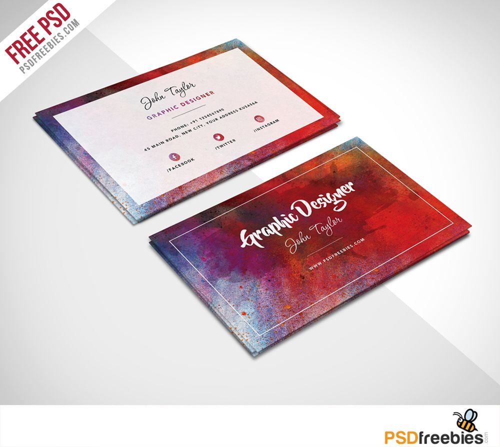 Free abstract business card psd template pinterest business card download free abstract business card psd templateis free abstract business card psd is perfect for any kind of company agency graphic designer fbccfo