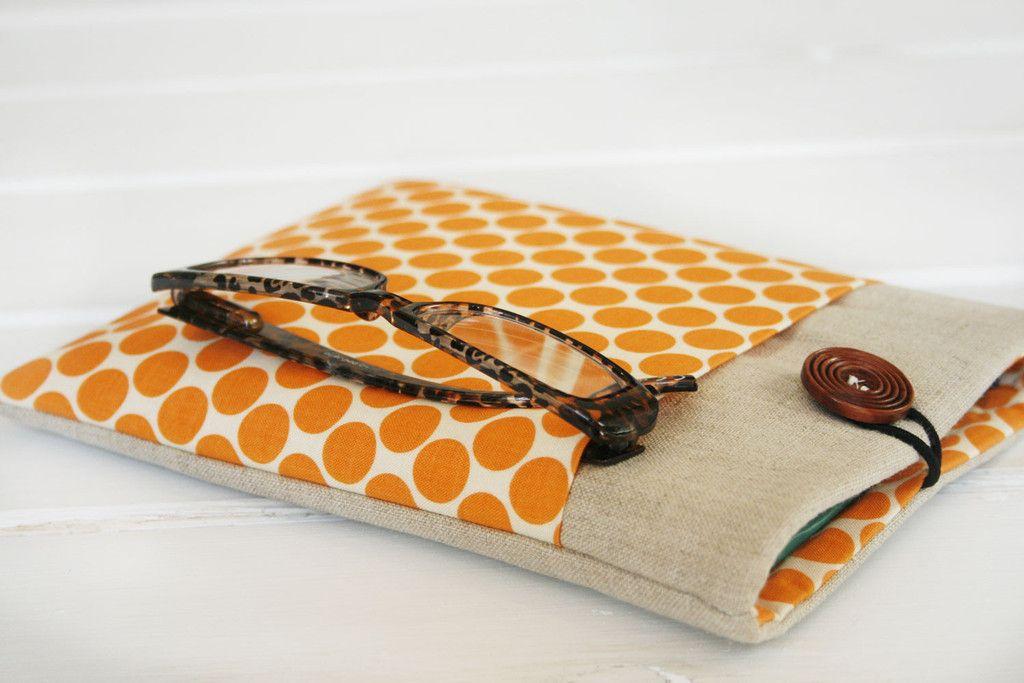 Orange Polky iPad & Tablet Case, Kindle & Ereader Case, or