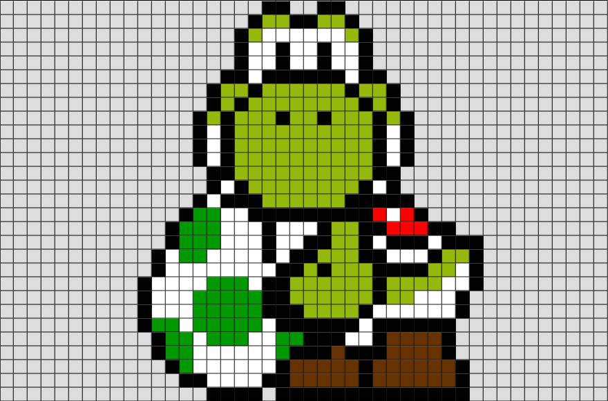 Mario Yoshi Pixel Art from BrikBook.com #Yoshi #Yoshiegg # ...
