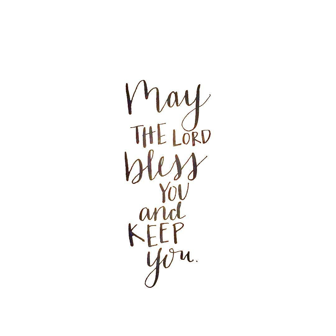 May The Lord Bless You And Keep You Calligraphy Print
